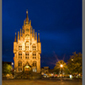 image of gouda townhall at night, Netherlands